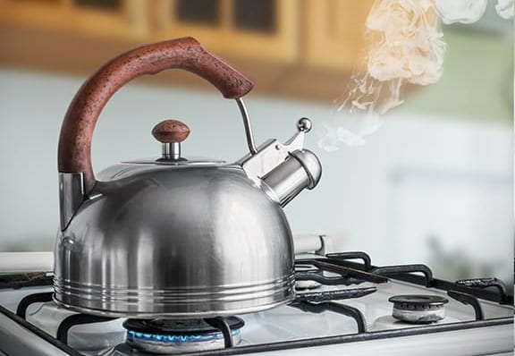 Kettle on stove top